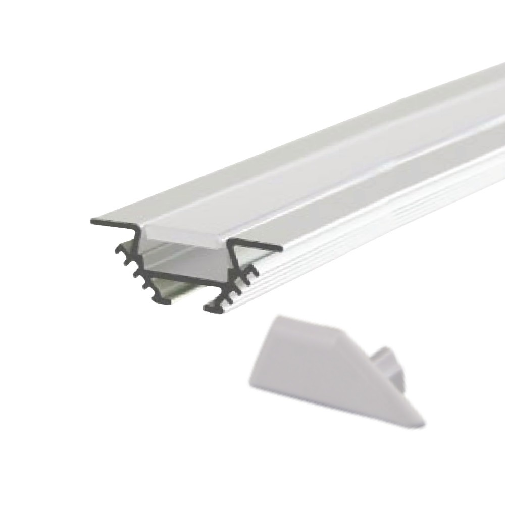 Clear recessed profile