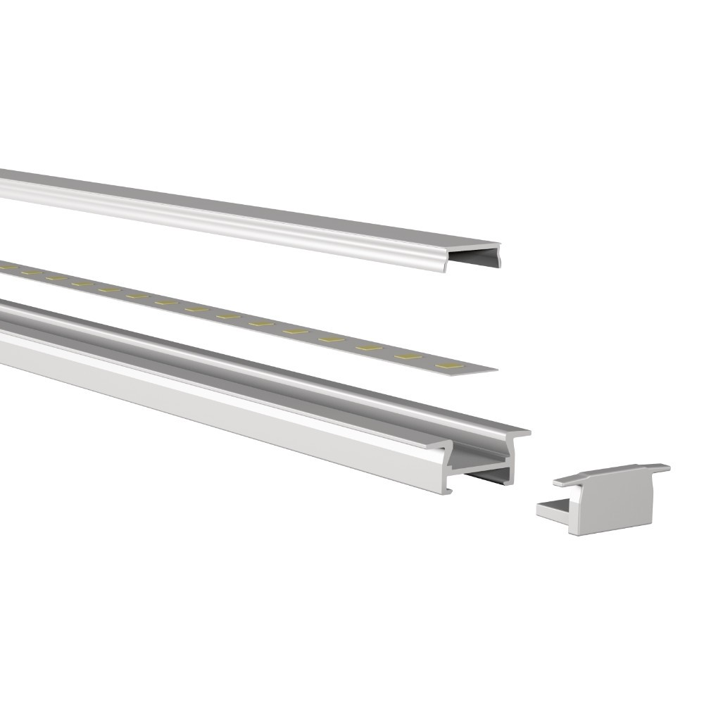 Frosted slim recessed profile