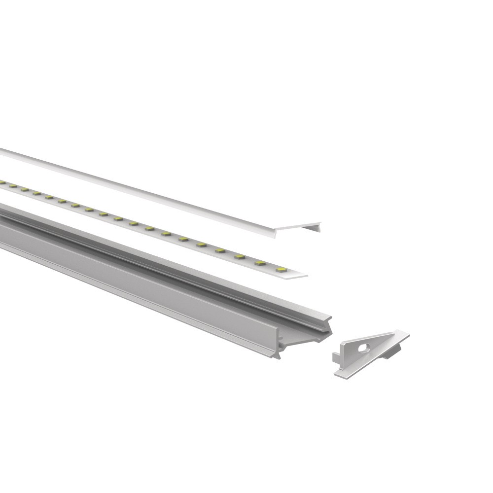Clear recessed 70° profile