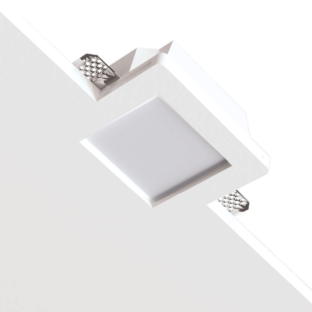 RECESSED CEILING LIGHT WITH GLASS 1xMR16 Square